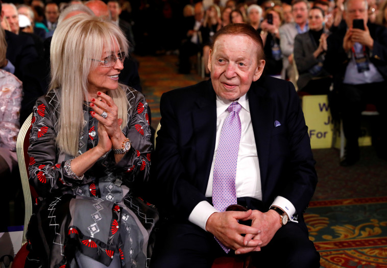 בין המשתתפים באירוע היו שלדון אדלסון ואשתו מרים. צילום: רויטרס