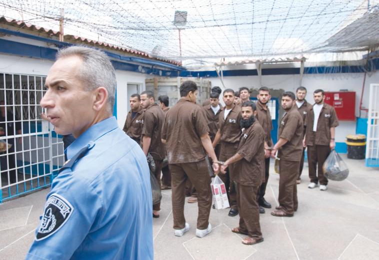 אסירים ביטחוניים בכלא דמון, ארכיון (צילום: דורון הורוביץ, פלאש 90)