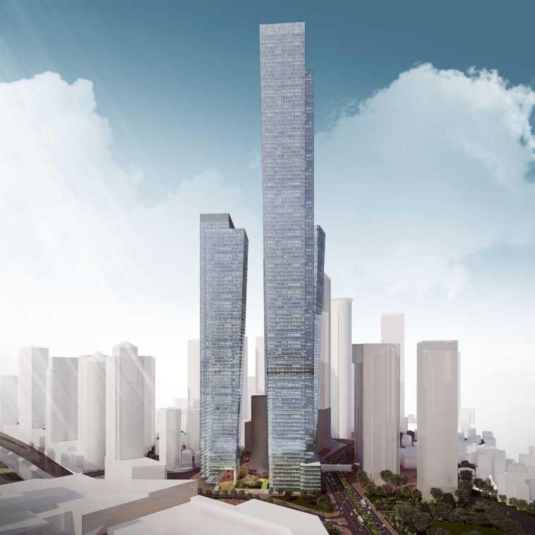 הדמיית המגדל הגבוה בישראל. צילום: באדיבות דוברות עיריית רמת גן