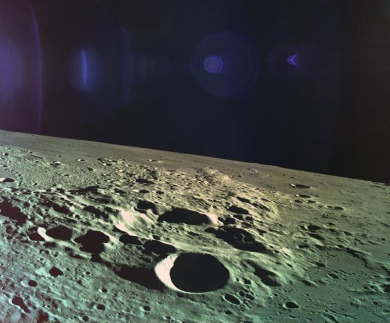 """התמונה האחרונה של """"בראשית"""". צילום: spaceIL"""