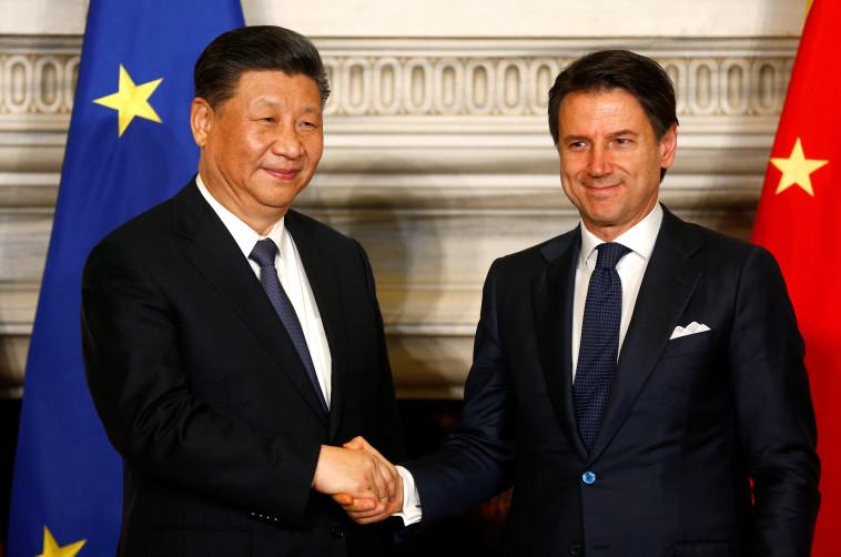 ראש ממשלת איטליה ונשיא סין. צילום: רויטרס