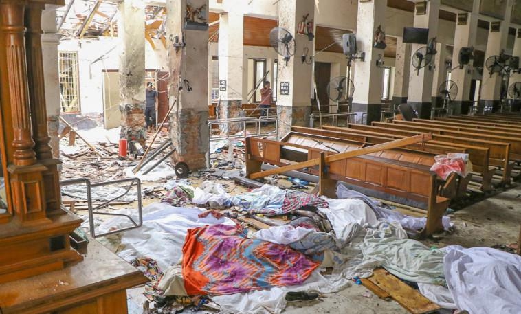 ההרס בבירה קולומבו. צילום: AFP
