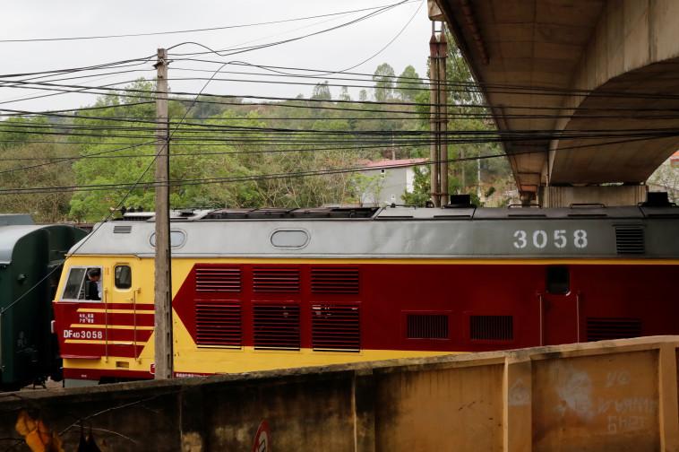 הרכבת המשוריינת של קים. צילום: רויטרס