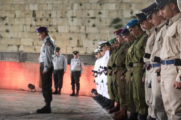 יום הזיכרון לחללי מערכות ישראל בכותל (צילום: מרק ישראל סלם)