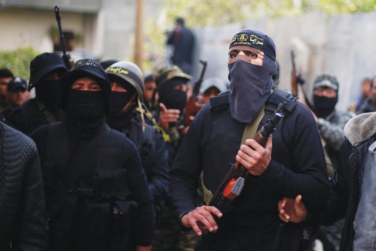 מחבלים של הג'יהאד האסלאמי. צילום:רויטרס