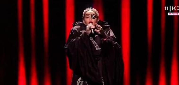 מדונה מופיעה באירוויזיון (צילום: צילום מסך)