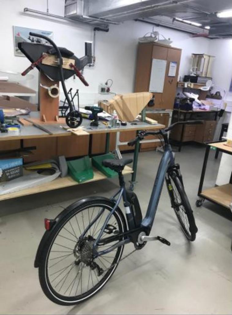 האופניים שפותחו עבור אוהד בן ישי. צילום: אלביט מערכות