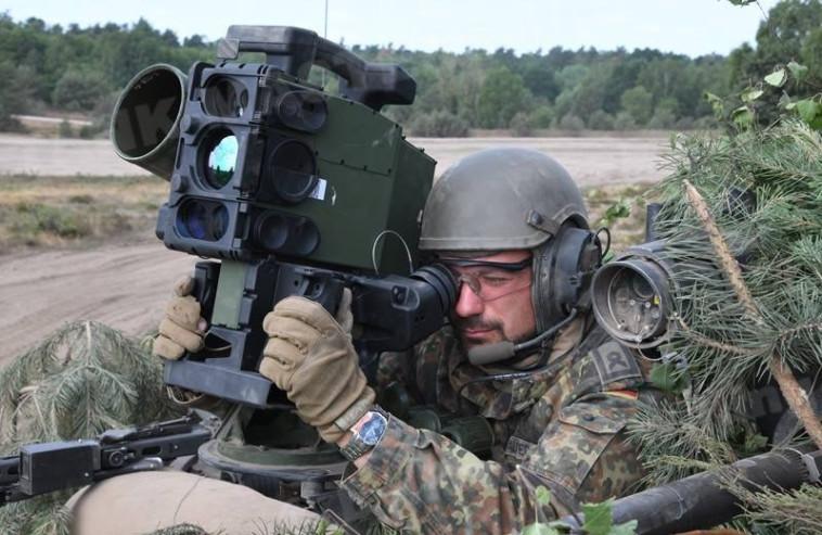 """ירי טיל ספייק בתרגיל של צבא גרמניה. צילום: """"רפאל"""""""