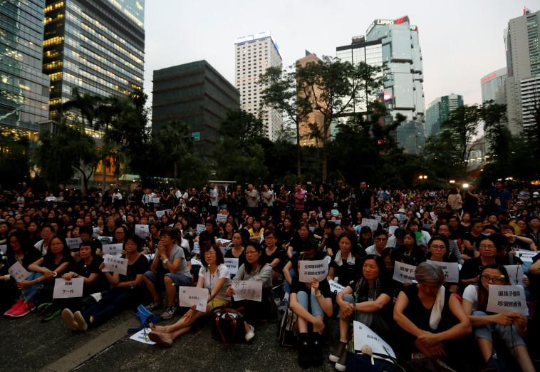 שמרו על עצמאותם. מפגינים בהונג קונג, צילום: REUTERS/Jorge Silva