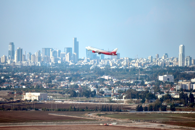 Flight departing from Ben Gurion Airport. Photo: Flash 90