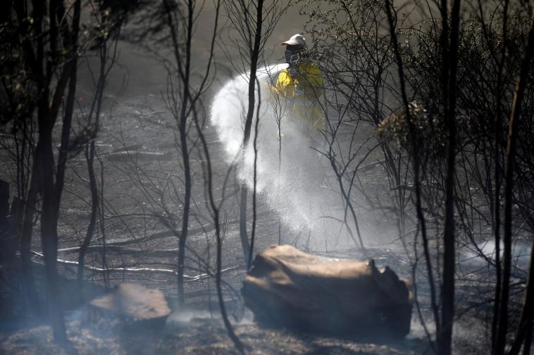 שריפה בעוטף עזה. צילום: רויטרס