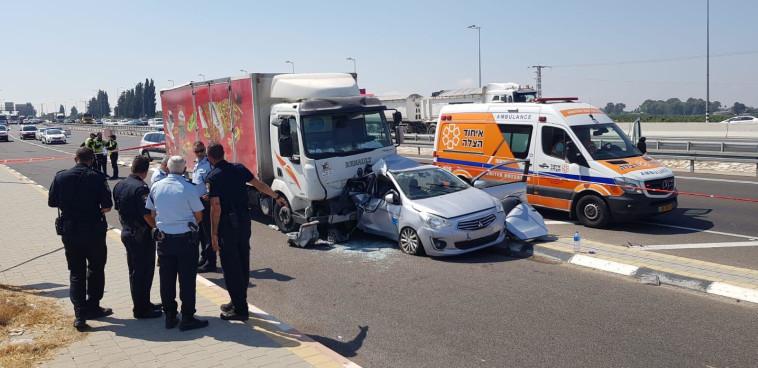 אזור התאונה. צילום: דוברות המשטרה
