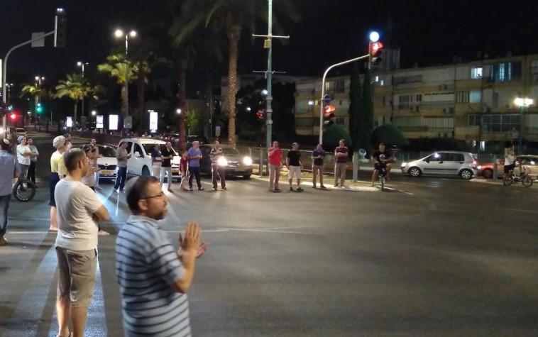 הפגנות בלוד במחאה על אירועי הירי בעיר. צילום: מכבי לוז/TPS