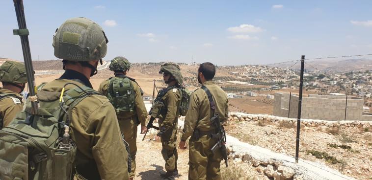 סריקות לוחמי צה''ל במרחב יהודה ושומרון (צילום: דובר צה''ל)