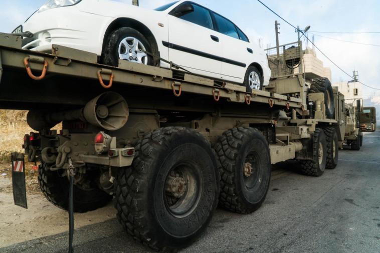 """הרכב שחשוד שהיה בשימוש החוליה שרצחה את דביר שורק ז""""ל. צילום: דובר צה""""ל"""