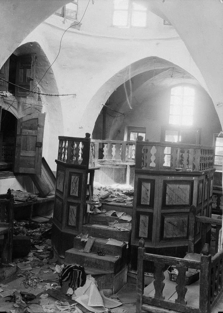 """בית כנסת שנהרס בחברון במאורעות תרפ""""ט. צילום: ויקיפדיה"""