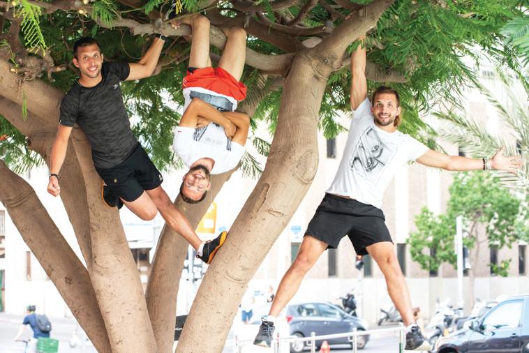 נינג'ה ישראל: השלישייה הזהה, רומה, דניאל וניקיטה סרגיינקו. צלם : אביטל הירש
