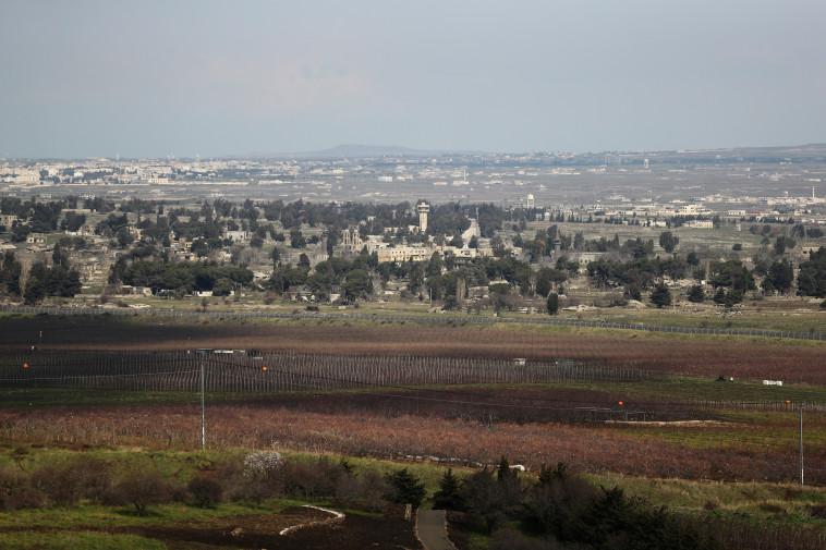 הגבול עם סוריה ברמת הגולן. צילום: רויטרס