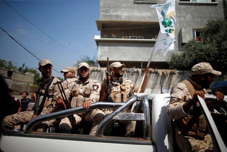 פעילי חמאס ברצועת עזה (צילום: רויטרס)