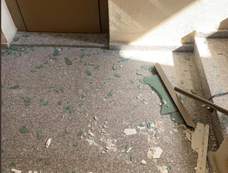 נזקי התקיפה. צילום: רשתות ערביות