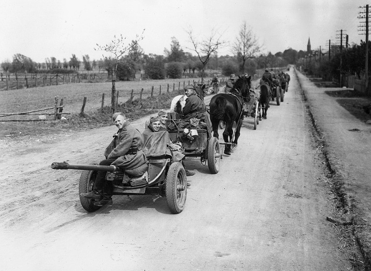 הצבא האדום בדרך לברלין.  gettyimages