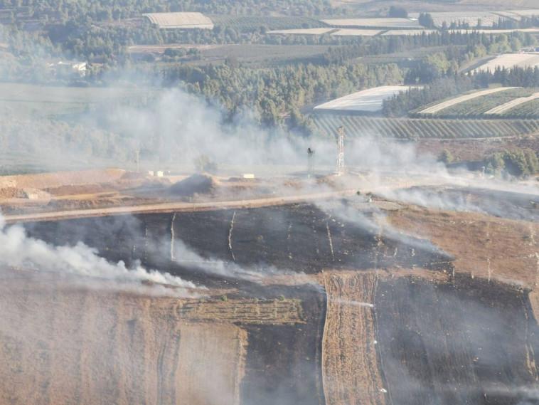 """עשן בלבנון בעקבות תקיפת צה""""ל. צילום: רשתות ערביות"""