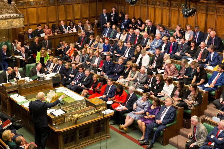 בוריס ג'ונסון בבית הנבחרים. צילום: רויטרס