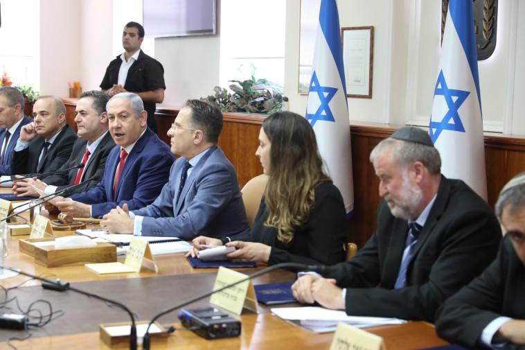 ישיבת ממשלה על חוק המצלמות בקלפיות. צילום: מרק ישראל סלם