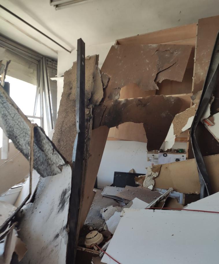 הפיצוץ בטכניון, צילום: דוברות כבאות והצלה