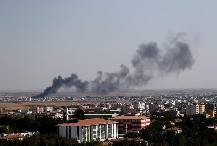 הפצצות של צבא טורקיה בצפון סוריה (צילום: רויטרס)