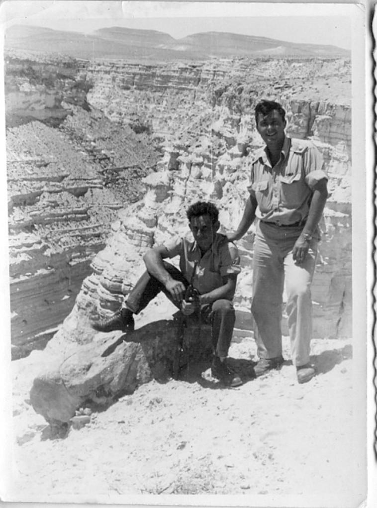 שלמה באום ואריאל שרון. צילום באדיבות משפחת באום