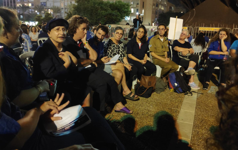 """""""אסיפה ישראלית"""" לציון 24 שנים לרצח רבין. צילום: קואליציית זוכרים את הנרצח, נאבקים על הדמוקרטיה"""