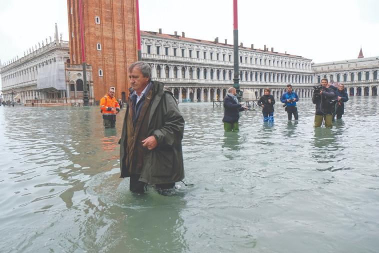 ונציה מוצפת. צילום: רויטרס
