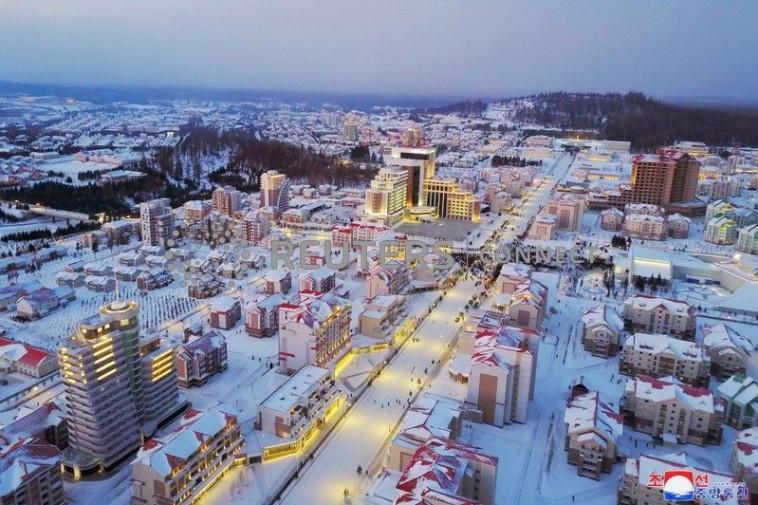 העיר סמג'יון בקוריאה הצפונית. צילום: רויטרס