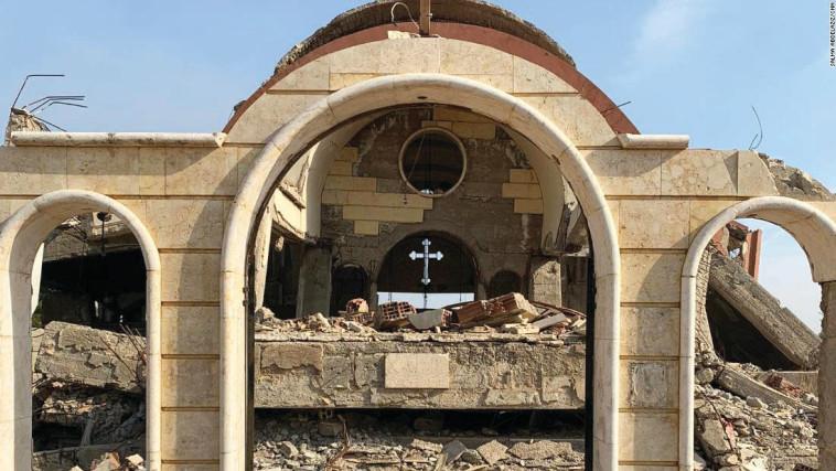 הכפר הנוצרי שנהרס על ידי דאעש. צילום: באדיבות CNN