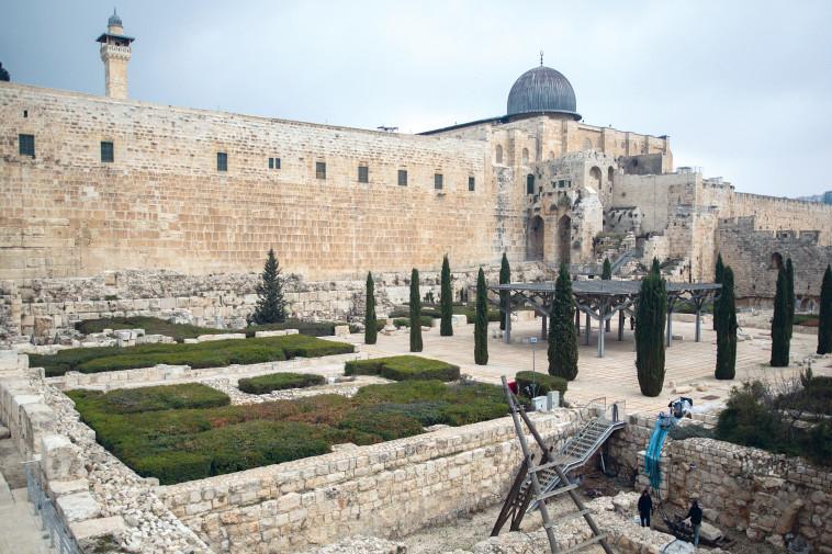 הגן הארכיאולוגי בירושלים. צילום: יונתן זינדל, פלאש 90