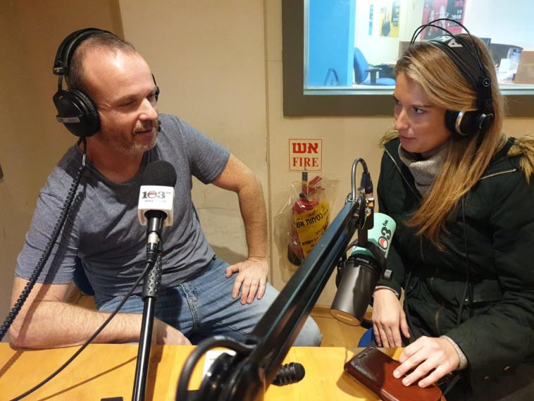 אור בר אילן וטל לב רם באולפן, צילום: אפרת קורמן, 103FM