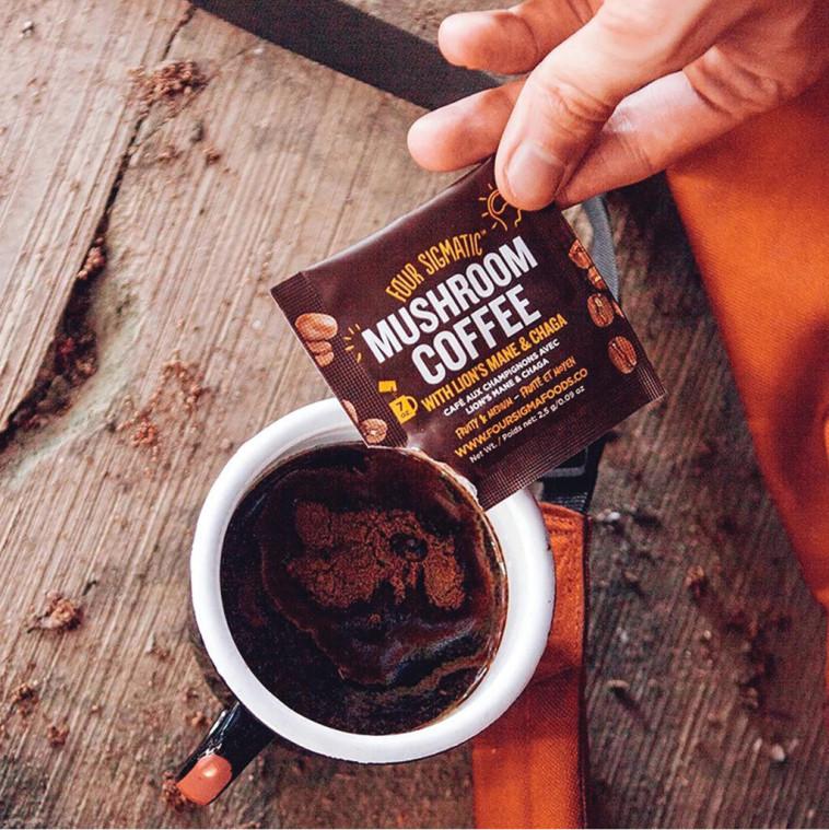 """קפה מפטריות, צילום: יח""""צ"""