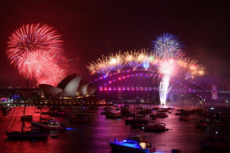 חגיגות השנה החדשה באוסטרליה (צילום: רויטרס)