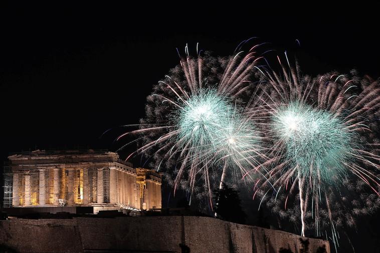 חגיגות באקרופוליס, אתונה. צילום: רויטרס