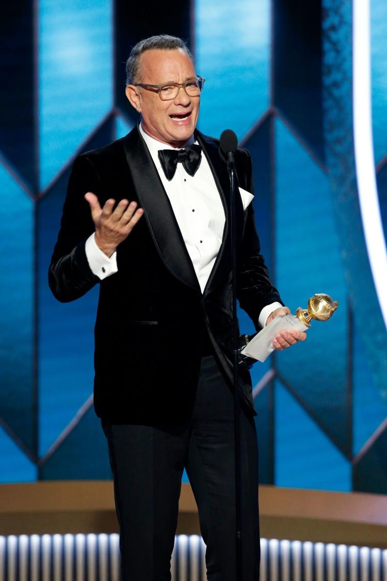 טום הנקס זוכה בפרס מפעל חיים (צילום: רויטרס)