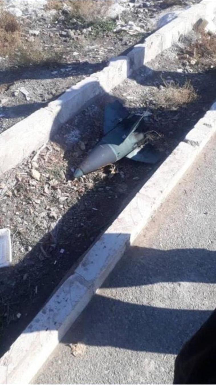 הטיל שפגע כביכול במטוס, צילום: רשתות ערביות