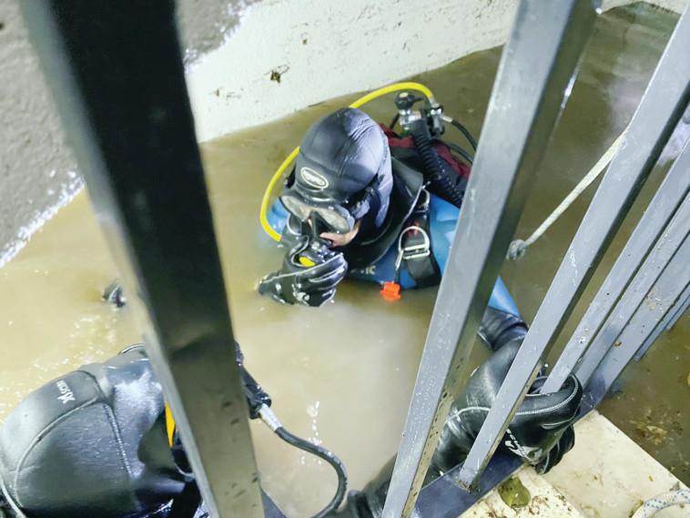 זירת אסון המעלית. צילום: דוברות כבאות והצלה תל אביב