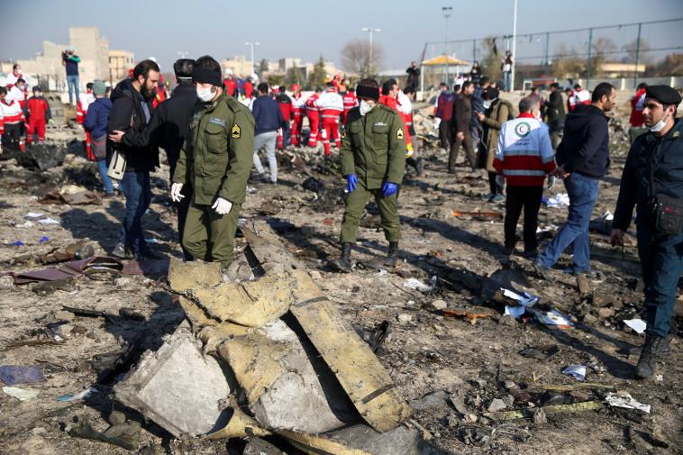 התרסקות המטוס האוקראיני. צילום: רויטרס
