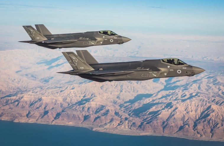 מטוסי F-35i, ארכיון (צילום: דובר צה''ל)