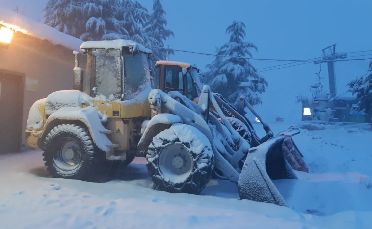 שלג גם בחרמון. צילום: אתר החרמון