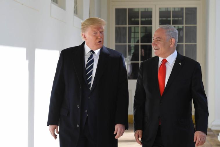 פגישת נתניהו וטראמפ  (צילום: קובי גדעון, לע''מ)