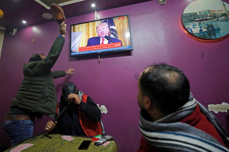 תגובות להכרזת טראמפ בעולם הערבי. צילום: רויטרס