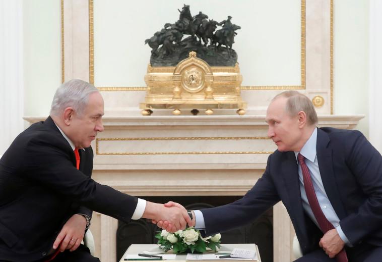 ראש הממשלה נתניהו והנשיא פוטין בפגישתם במוסקבה. צילום: רויטרס