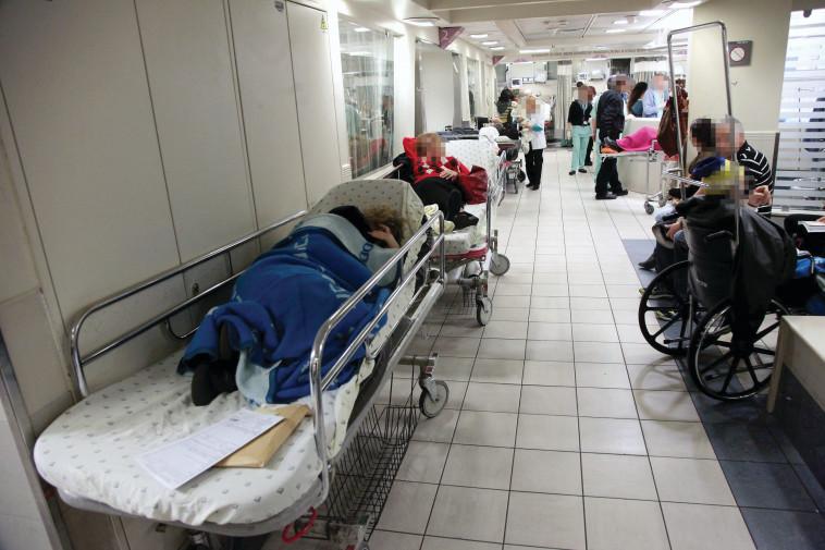 עומס בבית חולים (צילום: נאור רהב)